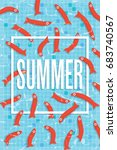 summer poster with many red...   Shutterstock .eps vector #683740567