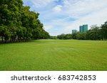 background image of lush grass... | Shutterstock . vector #683742853