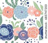 vector flower illustration.... | Shutterstock .eps vector #683747203