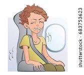 worried frightened man in the... | Shutterstock .eps vector #683753623