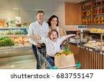 swift healthy happy family dad... | Shutterstock . vector #683755147