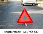 a broken car in the middle of...   Shutterstock . vector #683755537