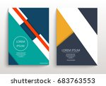 covers with minimal design.... | Shutterstock .eps vector #683763553