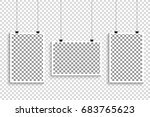 set of retro photo frames with... | Shutterstock .eps vector #683765623