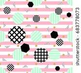 seamless stripe dot with...   Shutterstock .eps vector #683778073