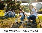 warm hearted friends gathering... | Shutterstock . vector #683779753