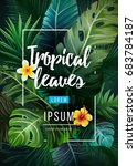 bright tropical background with ... | Shutterstock .eps vector #683784187