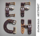 3d vintage steam punk alphabet... | Shutterstock . vector #683784847