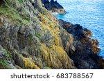 scenic mountain cliff view.... | Shutterstock . vector #683788567