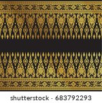thai art background pattern... | Shutterstock .eps vector #683792293