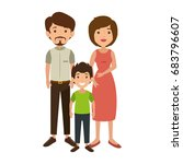 family with kids | Shutterstock .eps vector #683796607