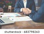 business partnership marketing... | Shutterstock . vector #683798263