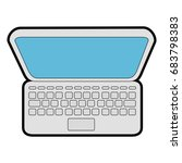 laptop computer icon | Shutterstock .eps vector #683798383