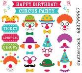 circus clown party vector photo ... | Shutterstock .eps vector #683799997
