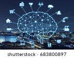 ai concept. artificial... | Shutterstock . vector #683800897