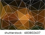 black orange yellow abstract... | Shutterstock . vector #683802637