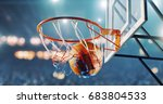basketball hoop in a...