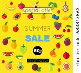 poster   summer sale. card for... | Shutterstock .eps vector #683813863
