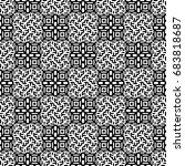 seamless pattern with black... | Shutterstock .eps vector #683818687