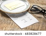 restaurant bill paying by card... | Shutterstock . vector #683828677