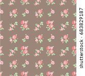 floral pattern | Shutterstock .eps vector #683829187