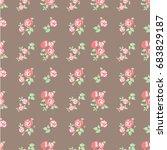 floral pattern | Shutterstock .eps vector #683829187