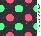 flat line circle pattern vector | Shutterstock .eps vector #683832403