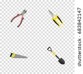 realistic scissors  forceps ... | Shutterstock .eps vector #683842147