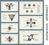 seven workflow slide templates... | Shutterstock .eps vector #683846617