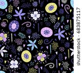seamless floral pattern with...   Shutterstock .eps vector #683875117