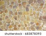 close up beige stonewall texture | Shutterstock . vector #683878393