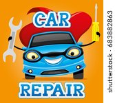 car repair. | Shutterstock .eps vector #683882863