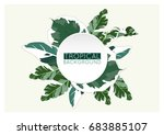 trendy tropical summer... | Shutterstock .eps vector #683885107