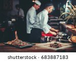 food concept. ready grilled...   Shutterstock . vector #683887183
