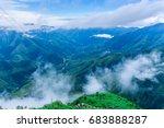 laitlum canyon  meghalaya ... | Shutterstock . vector #683888287
