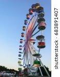 ferris wheel on clear blue sky... | Shutterstock . vector #683891407