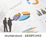 financial graphs analysis and... | Shutterstock . vector #683891443
