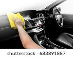 microfiber and console car ... | Shutterstock . vector #683891887