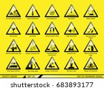 set of safety warning signs.... | Shutterstock .eps vector #683893177