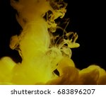 acrylic colors and ink in water.... | Shutterstock . vector #683896207
