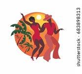 lady and gentleman dance latin... | Shutterstock .eps vector #683898313