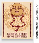head of laughing buddha ... | Shutterstock .eps vector #683901877