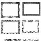 large set of antique vector... | Shutterstock .eps vector #683911963