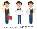 business man cartoon character. ...   Shutterstock .eps vector #683912623