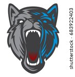 wolf logo   dog head logotype.... | Shutterstock .eps vector #683922403