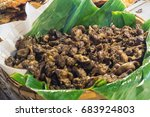 liver grilled in the market. ... | Shutterstock . vector #683924803