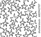 seamless vector hand drawn star ... | Shutterstock .eps vector #683942707