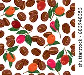 seamless pattern with roasted... | Shutterstock .eps vector #683948353