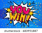 you win message word bubble in... | Shutterstock .eps vector #683951887