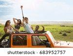 happy group of friends taking... | Shutterstock . vector #683952757